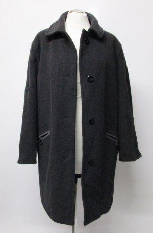 Weicher Wintermantel  Delmod Größe XL 42 44 Grau Dunkelgrau Anthrazit Schurwolle Kaschmir Cashmere Mantel Jacke