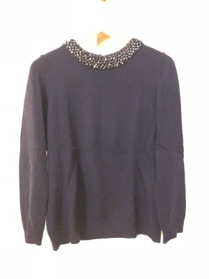 1.2.3 Paris Kraagloze sweater donkerblauw