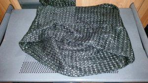 Écharpe en crochet noir-blanc laine