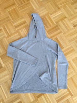 Hooded Sweater light grey-grey polyester