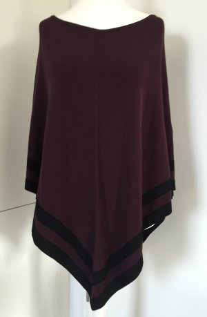 s.Oliver Knitted Poncho black-blackberry-red mixture fibre