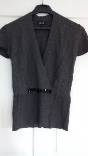 Knitted Top anthracite-grey