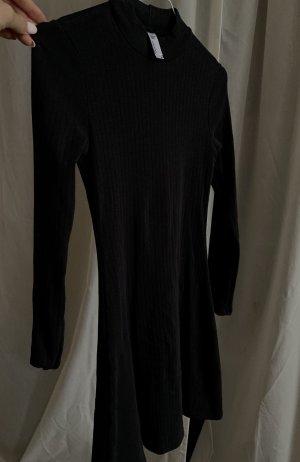 American Apparel Vestido de manga larga gris antracita-negro