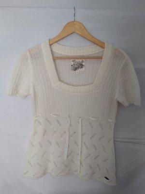 s.Oliver Camisa tejida blanco puro Poliéster