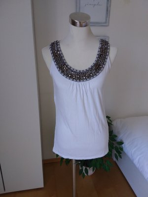 One green elephant Strappy Top white-silver-colored