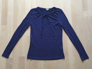 Anne L. Top à manches longues bleu-bleu foncé