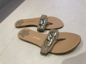 T-Strap Sandals oatmeal polyacrylic