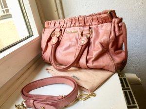 WEIHNACHTSANGEBOT! MIU MIU bei Prada Shopper Tasche Echtes Leder pink