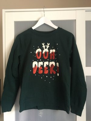 H&M Christmasjumper dark green