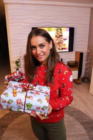 H&M Pull de Noël multicolore tissu mixte