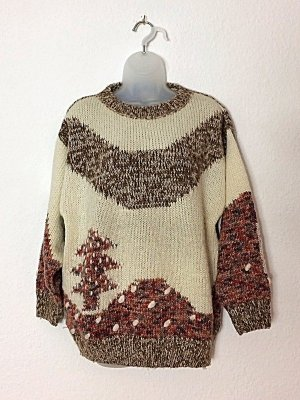 Weihnachtspulli Pullover Ugly Christmas Sweater Vintage Gr. 36/38 Made in Italy
