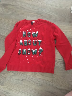 H&M Divided Christmasjumper red