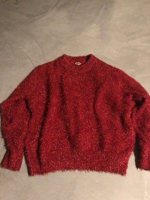 H&M Pull de Noël rouge brique-rouge