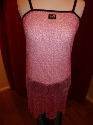 Weihnachtssale! Dolce & Gabbana - Unterkleid in Leo-Optik pink, Gr. M