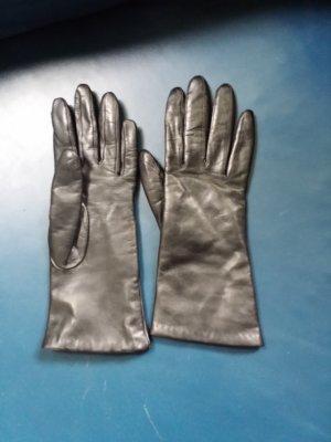 Leren handschoenen zwart Leer