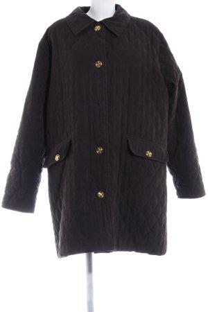 Weill Manteau en duvet gris foncé motif de courtepointe style mode des rues