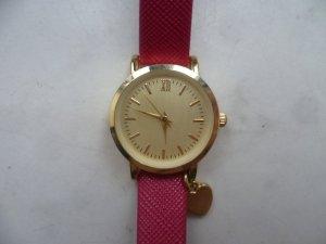 Weinrote Armbanduhr von H&M, Blogger, Basic, Boho