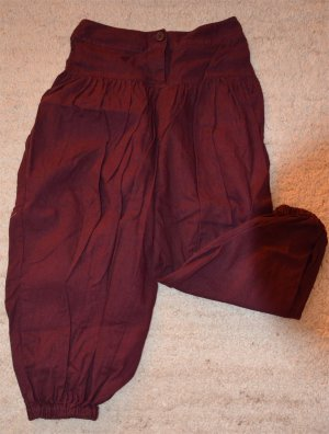3 Suisses Pantalone largo bordeaux Lino