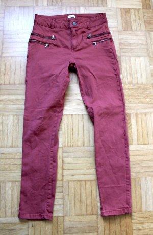 Pimkie Jeans de moto rouge carmin-gris clair