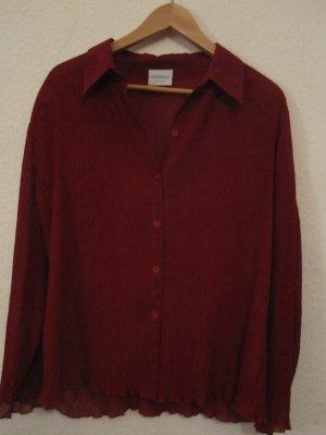 C&A Crash Blouse dark red polyester