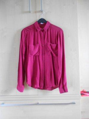 Weinrote Bluse mit Taschen