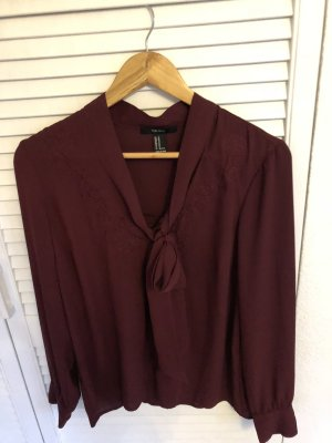 Forever 21 Tie-neck Blouse bordeaux