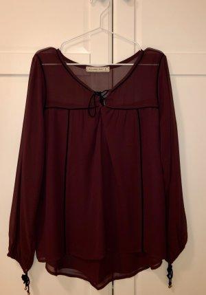 Weinrote Bluse von Abercrombie & Fitch, Gr. L