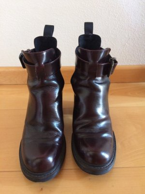 Weinrote/ Bordeaux Cut-Out boots mit Absatz
