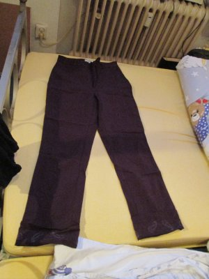 weinrote Caprihose / Mac Stretch