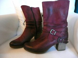 Western Booties carmine leather
