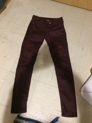 H&M Low-Rise Trousers carmine
