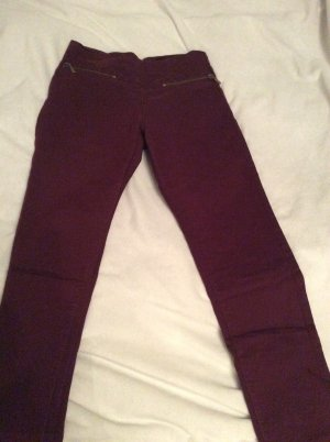 Ann Christine Skinny Jeans bordeaux-gold-colored