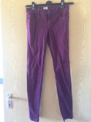 Weinrote jeans von only