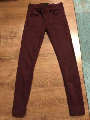 Weinrote Jeans von Zara, Größe 38