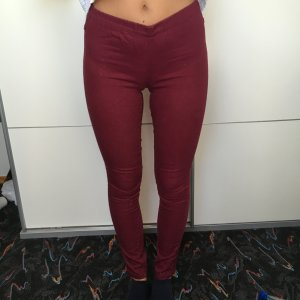 Weinrote Jeggins Jeans