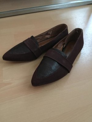 H&M Business Shoes bordeaux-brown red imitation leather