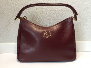 Weinrote Mila Schön Vintage-Handtasche