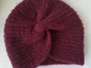 Asos Knitted Hat bordeaux