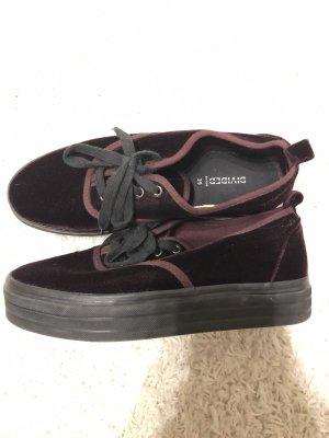 H&M Heel Sneakers bordeaux