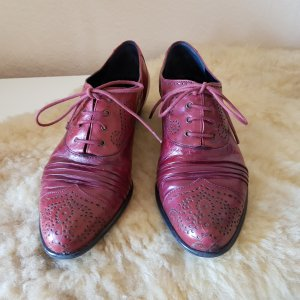 Everybody Lace Shoes dark red leather