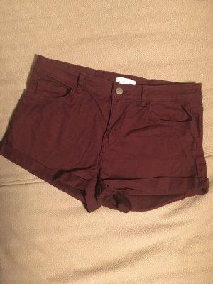 Weinrote Short regular waist
