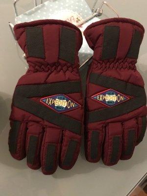 Weinrote Ski Handschuhe