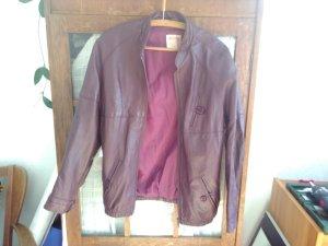 Weinrote Vintage Lederjacke von Skin Centre