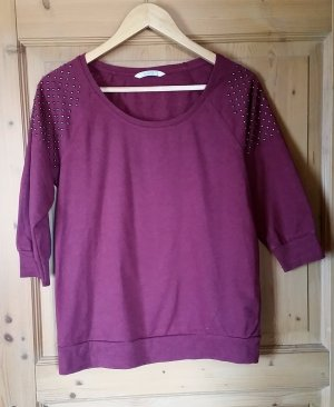 Weinroter 3/4 Arm Pullover