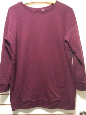 Weinroter dicker Pullover