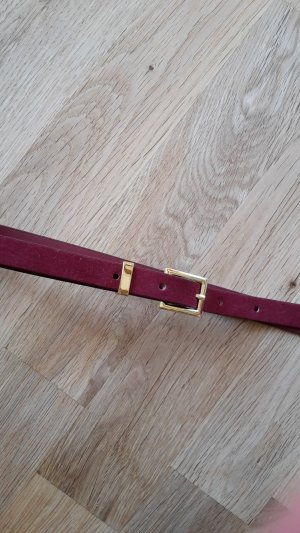 H&M Faux Leather Belt carmine-dark red