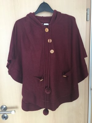 Weinroter Poncho Gr.M
