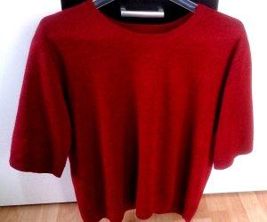 weinroter Tshirt/Pulli mit kurzen Armeln