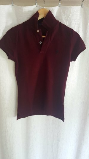 Weinrotes/Bordeaux farbenes Polo-Shirt von Ralph Lauren