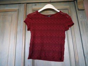 Weinrotes Crop-Shirt